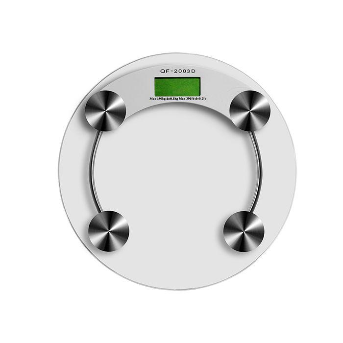 Balança de Banheiro Digital em Vidro Suporta até 180 Kg