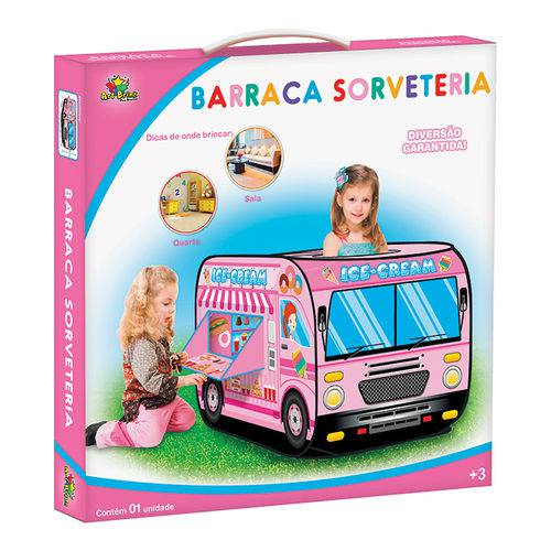 Barraca Barraquinha Infantil Carrinho de Sorveteria Meninas