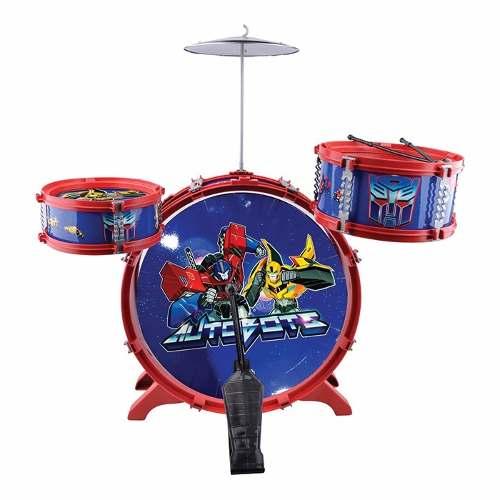 Bateria Infantil Musical Transformers