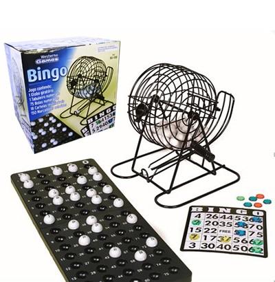 Bingo Tradicional com Globo Giratório Metal e Bolinhas
