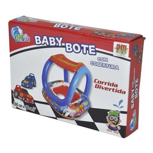 Boia Bote Inflável Bebê com Cobertura Corrida Divertida 66x66cm