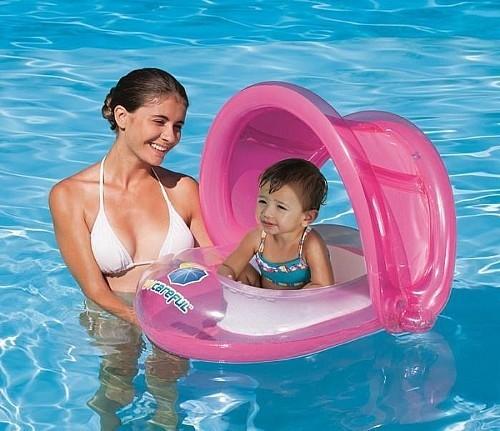 Boia Infantil para Bebê Criança com Cobertura Protege do Sol