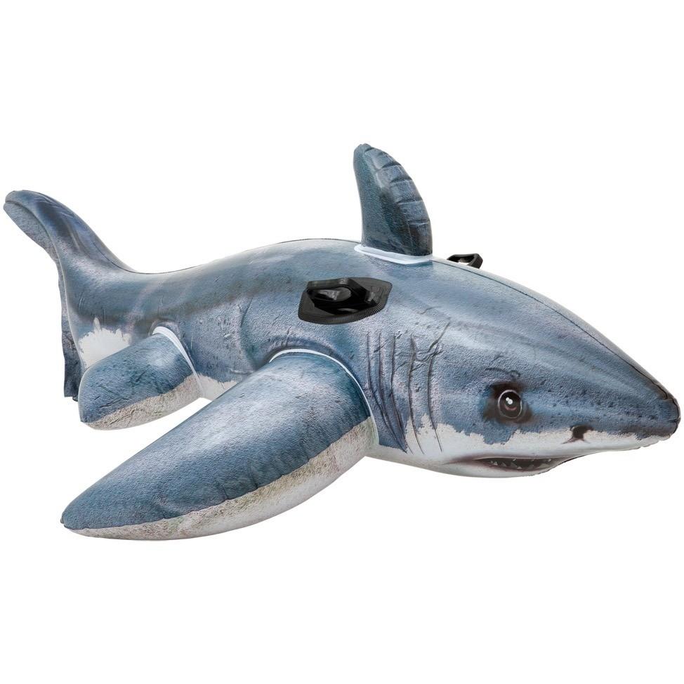 Boia Inflável Grande Tubarão Branco Gigante Intex