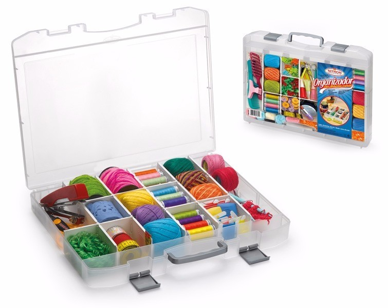 Caixa Maleta Organizadora com Divisórias Móveis
