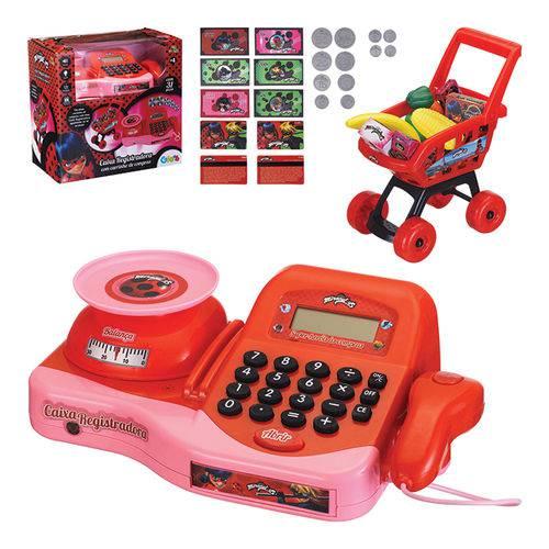 Caixa Registradora Infantil com Carrinho de Compras Miraculous
