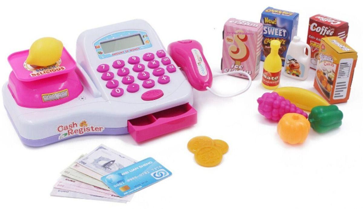 Caixa Registradora Infantil Para Meninas com Acessórios