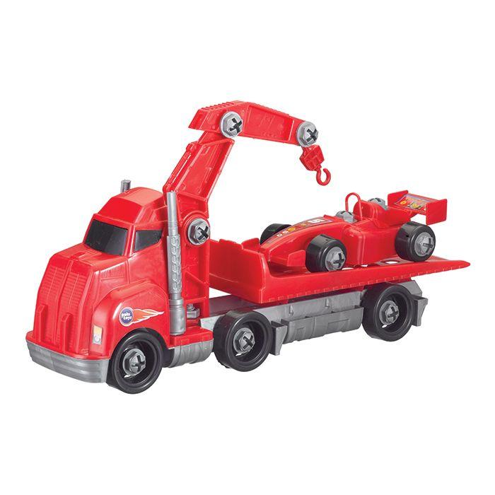 Caminhão Guincho e Carro de Fórmula 1 Montar e Desmontar