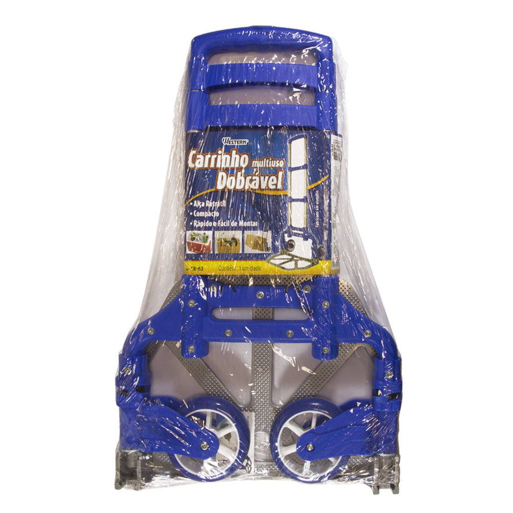 Carrinho de Cargas Dobrável Multiuso Alumínio