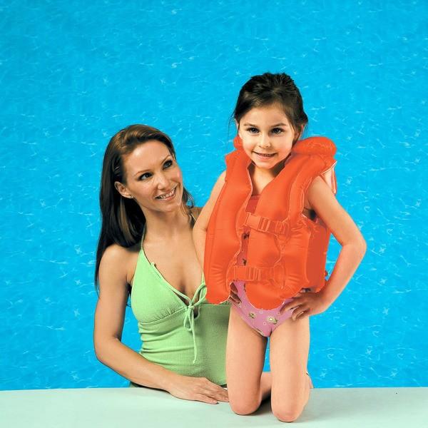 Colete Infantil Inflável Salva Vidas Piscina De Luxe