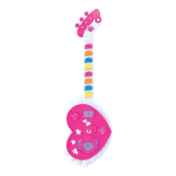 Guitarra Musical Coração com Efeitos de Luz e Som