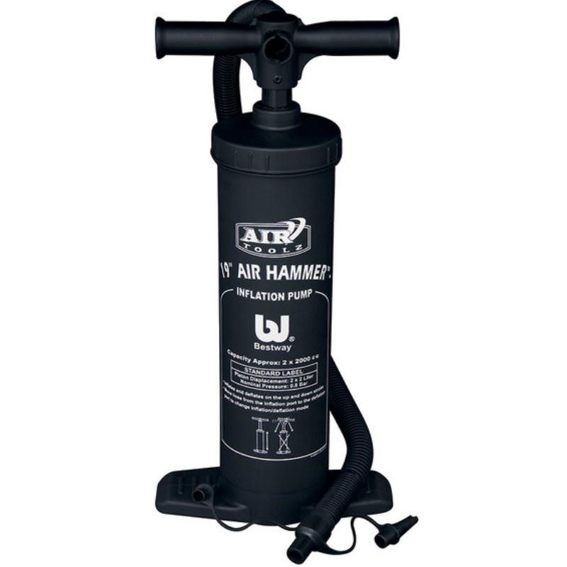 Inflador Bomba de Ar Manual Grande Air Hammer Dupla Ação