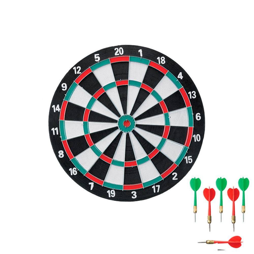 Jogo de Dardos 2 em 1 Com Alvo de 38cm