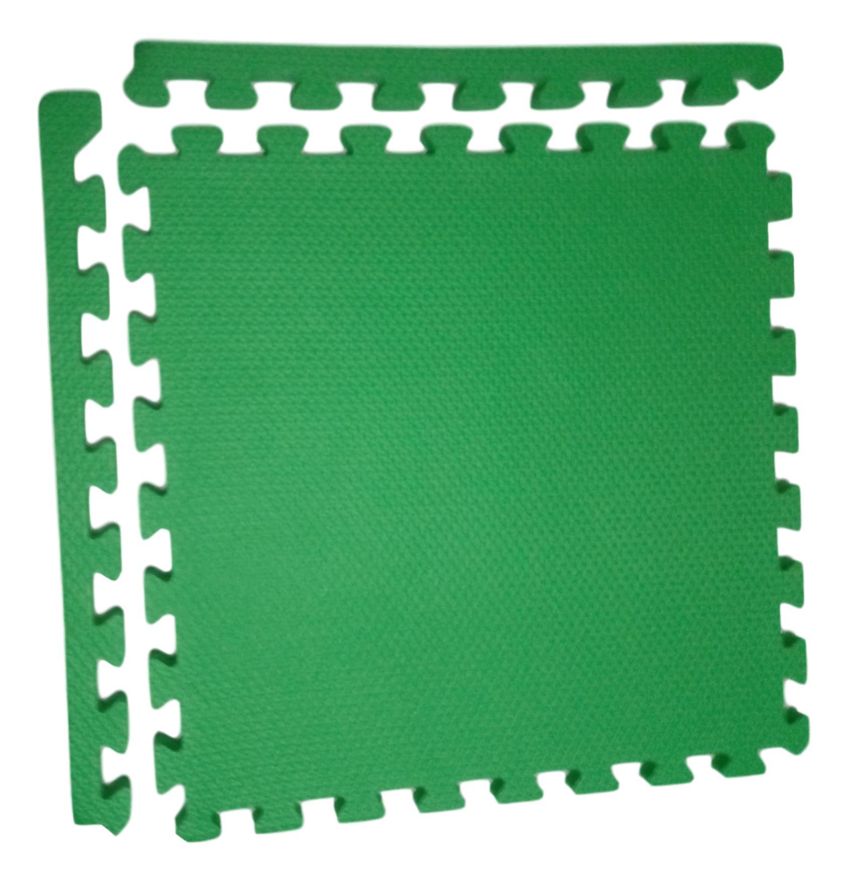 Kit 12 Tapetes Tatames Coloridos Eva 50cm X 50cm X 15mm C/ Borda