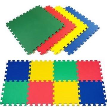 Kit 20 Tapetes Eva Cores Sortidas Unisex 50x50x1cm 10mm