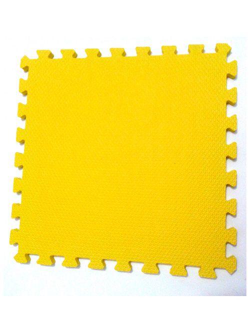 Kit com 10 Tatames Dupla Face Azul com Amarelo 50x50x2cm