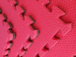 Kit com 10 Tatames Dupla Face vermelho com Preto 50x50x2cm