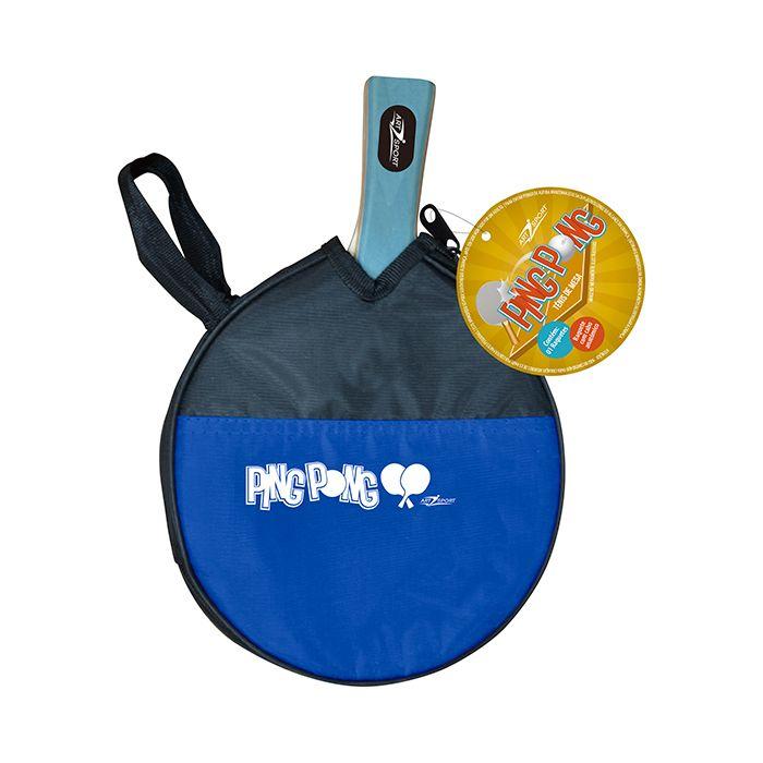 Kit com 2 Raquetes de Ping Pong com Capa Protetora