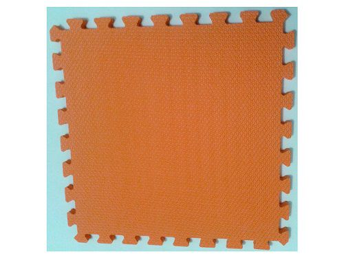 Kit com 6 Tatames Dupla Face Laranja com Preto 50x50x2cm