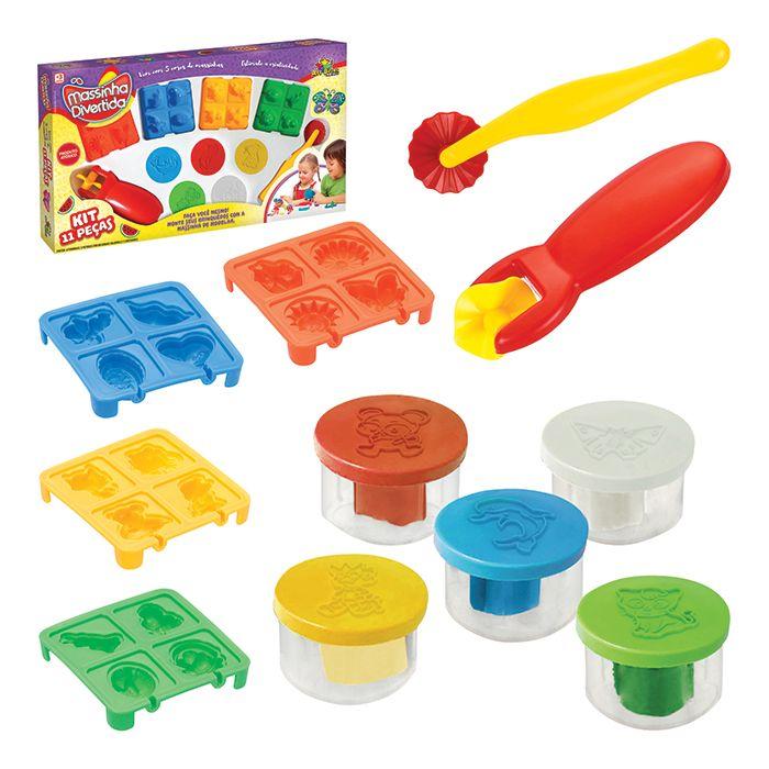 Kit Infantil para Modelar Massinha Divertida com Formas