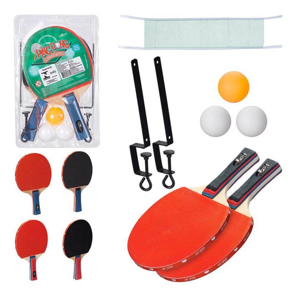 Kit Ping Pong Completo Raquete Rede Bolinhas