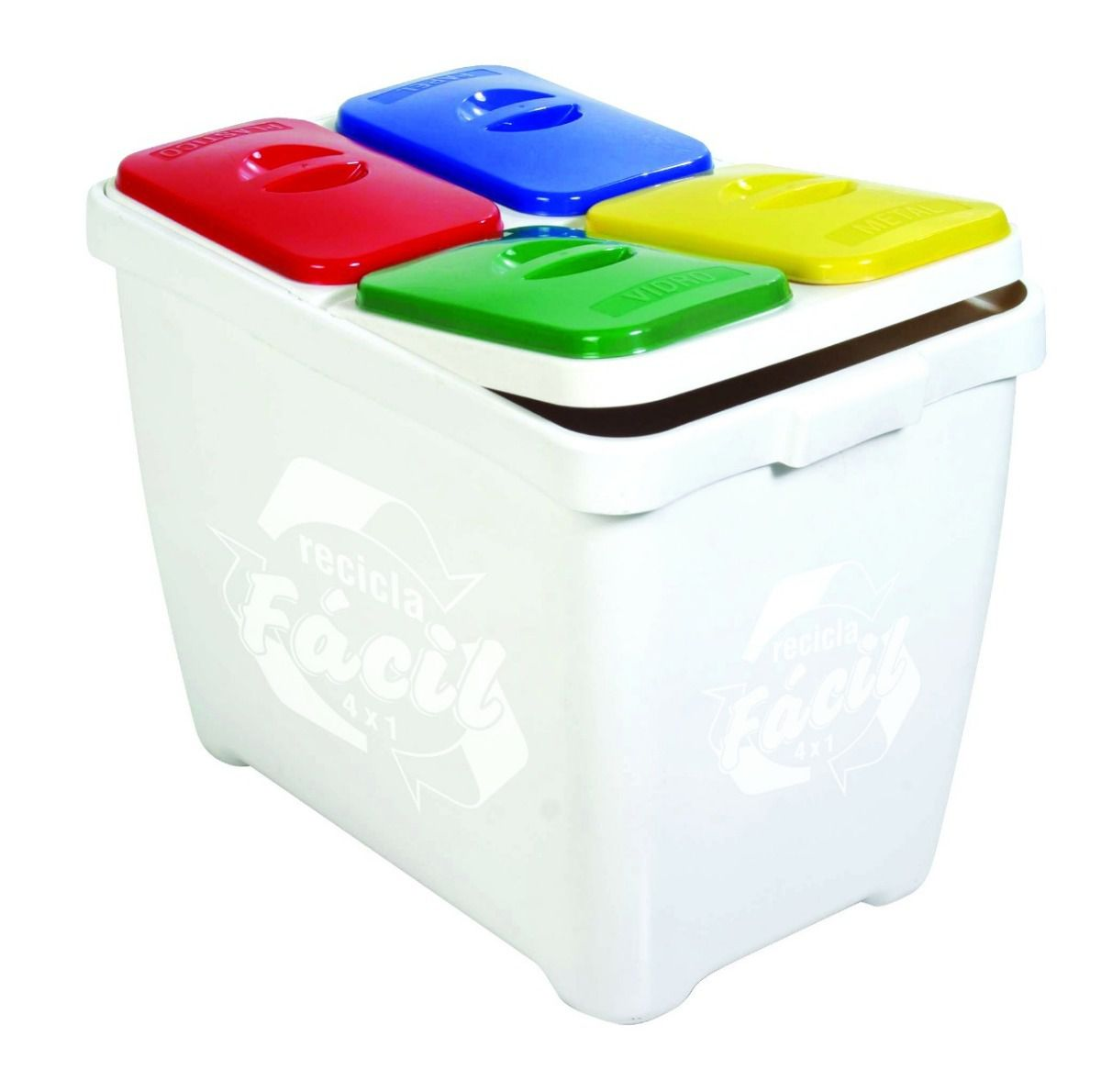 Lixeira para Coleta Seletiva 80 Litros Recicla Fácil