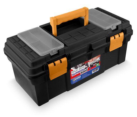 Maleta Caixa para Ferramentas com Bandeja 19¨ Maxi Box Suprema 5003