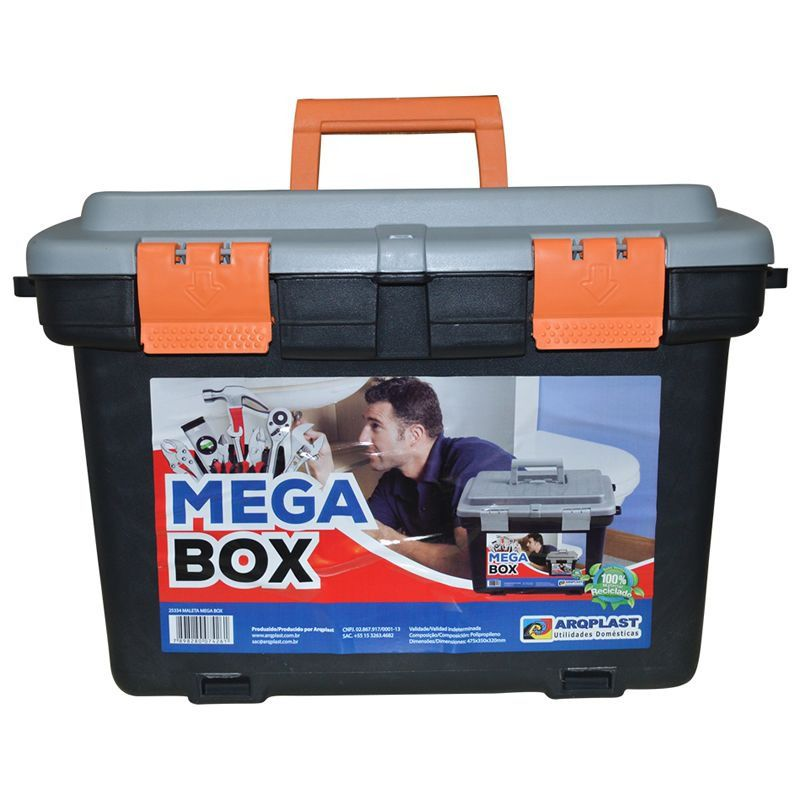 Maleta Caixa para Ferramentas Mega Box 19¨