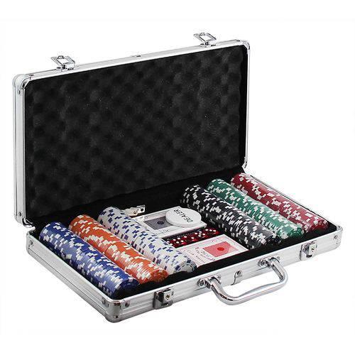 Maleta de Poker com 300 Fichas Numeradas
