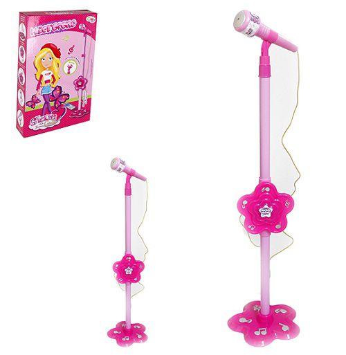 Microfone Infantil com efeitos de luz e som Glam Girls