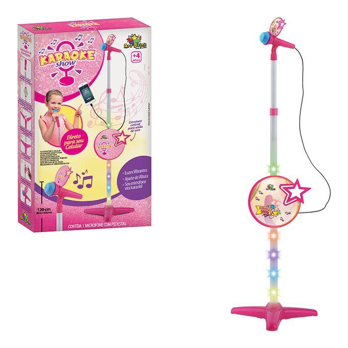 Microfone Infantil com Pedestal Liga no Celular