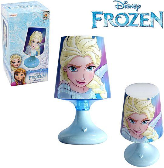Mini Abajur Luminária Infantil Frozen com Led a Pilhas