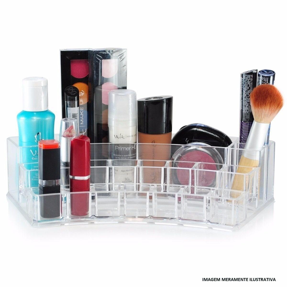 Organizador de Cosméticos Porta Maquiagem em Acrílico