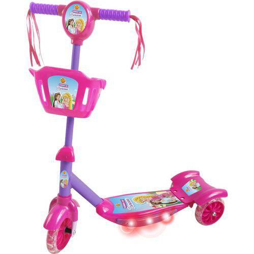 Patinete Infantil 3 Rodas Sonho de Princesa com Cestinho