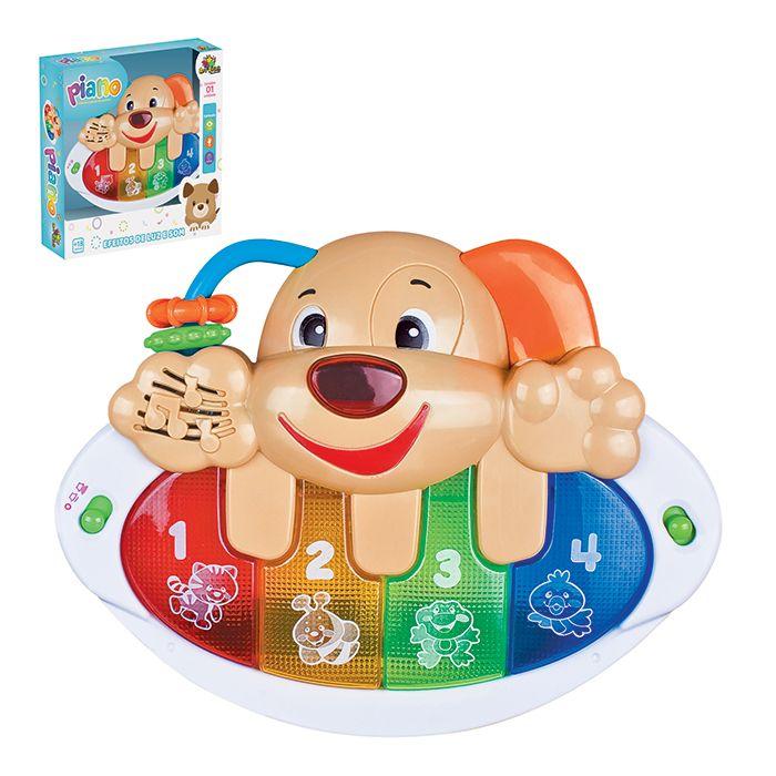 Piano Infantil Cachorrinho com Efeitos de Luz e Som