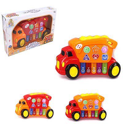 Piano Teclado Musical Brinca Bebê em Formato de Caminhãozinho