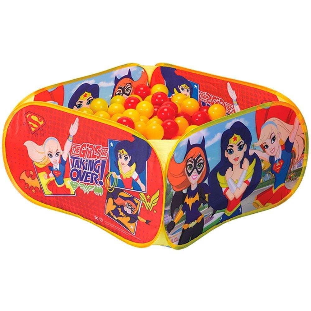 Piscina de Bolinhas Super Hero Girls com 100 Bolinhas