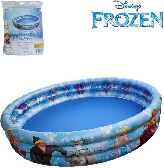 Piscina Infantil Inflável 3 Anéis Frozen 151 Litros