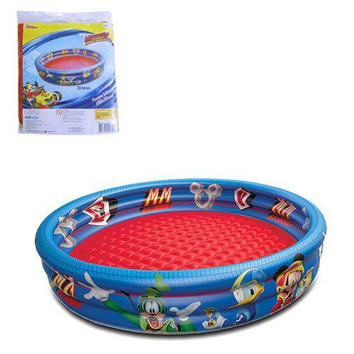 Piscina Infantil Inflável 3 Anéis Mickey 151 Litros