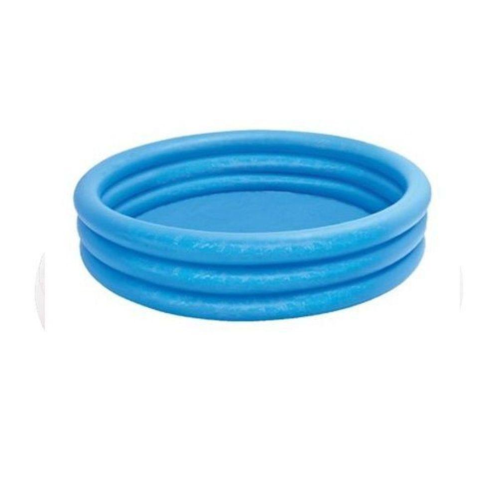 Piscina Inflável Azul Cristal 330 Litros 3 Anéis