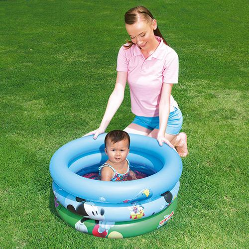 Piscina Inflável Infantil Bebê Mickey Mouse 38 Litros