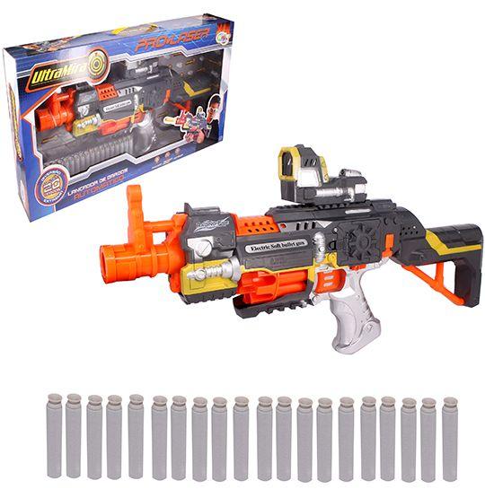 Pistola Lançador de Dardos de Espuma Automático 20 Dardos
