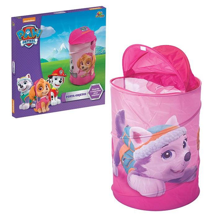 Porta Objetos Infantil Patrol Paw Organizador de Brinquedos