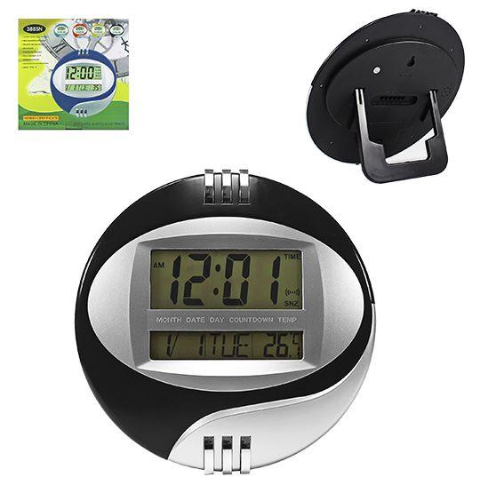 Relógio de Parede Digital Redondo 26 cm