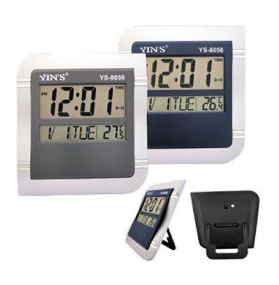 Relógio Digital de Parede ou Mesa 26x23cm Calendário e Temperatura