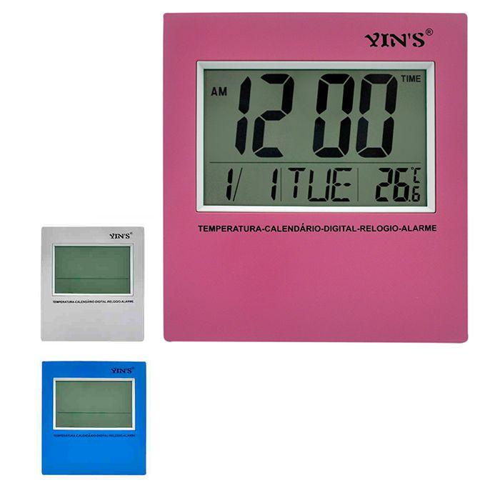 Relógio Digital de Parede ou Mesa Retangular