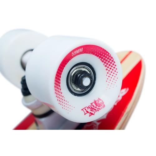 Skate Mini Longboard Cruiser Red Nose Abec 7 Truck Invertido