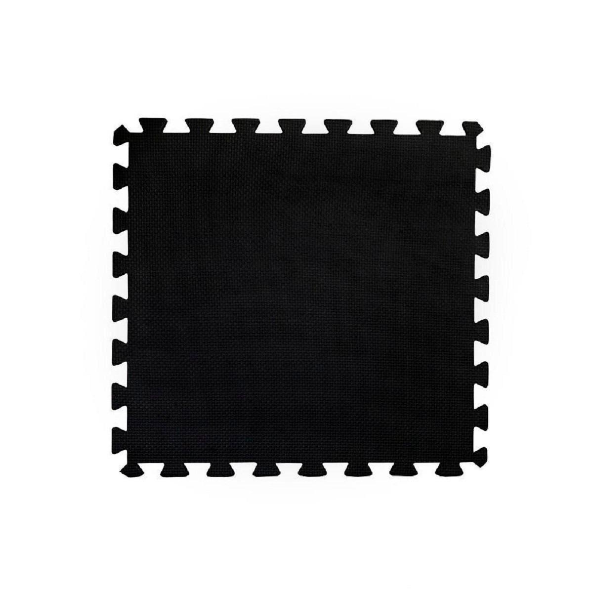 Tatame EVA 50cm x 50cm x 2cm Dupla Face Laranja com Preto Bicolor