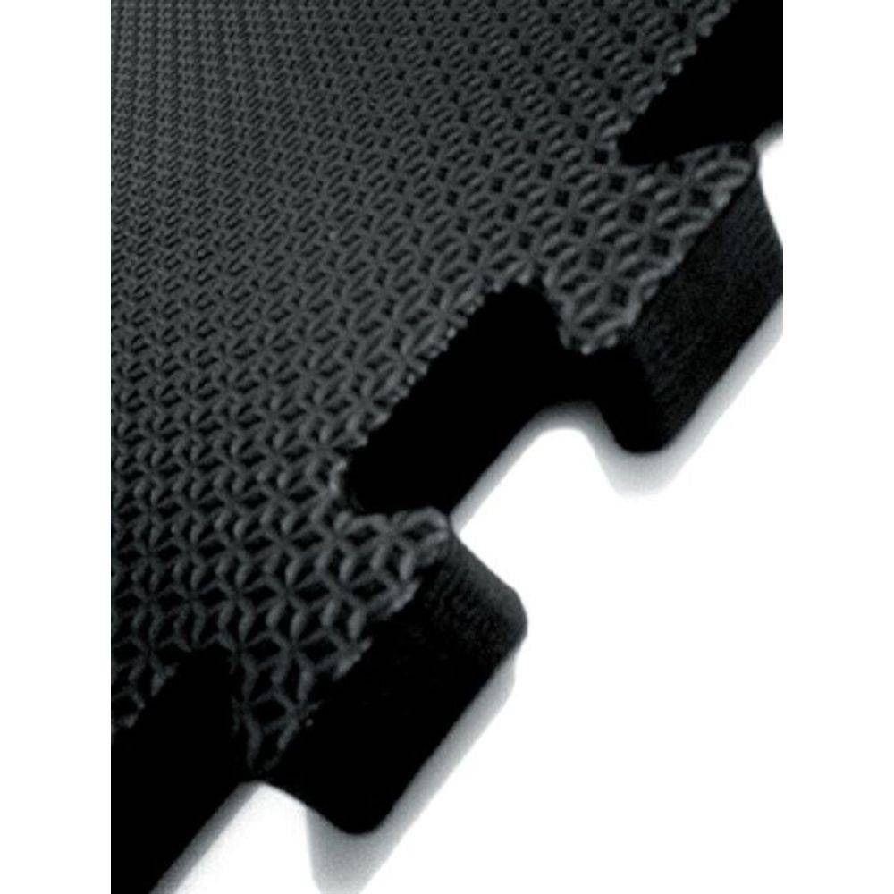 Tatame EVA Preto Conjunto com 6 Unidades 50cm x 50cm x 2cm