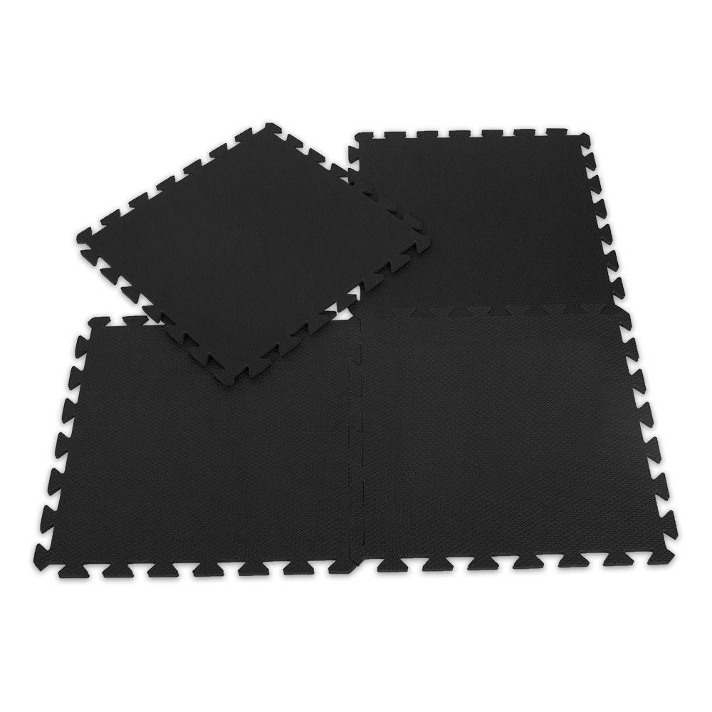 Tatame EVA Preto Conjunto com 10 Unidades 50cm x 50cm x 3cm
