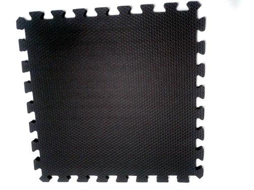Tatame Tapete EVA Com Borda 50 X 50 X 2cm Preto
